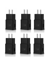 6x Adaptive Fast Charging Wall Charger For OEM Samsung Galaxy S8 S9 S10 Note BLK