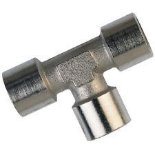 laiton Adaptateur pneumatique - égal T laiton nickelé M5 femelle 9-01888