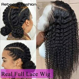 Curly Deep Wave Full Lace Wigs Remy Hair Glueless 200 Density HD Transparent Wig