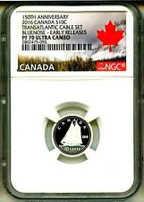 2016 S10c Canada 150th Ann. Transatlantic Cable Set Bluenose ER NGC PF70 UC