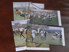 More details for original set of six dadd tuck sporting postcards - football incidents, no. 1746.