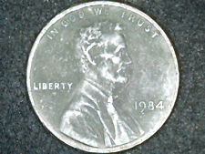 1984 P Lincoln Cent  With No Copper Plating