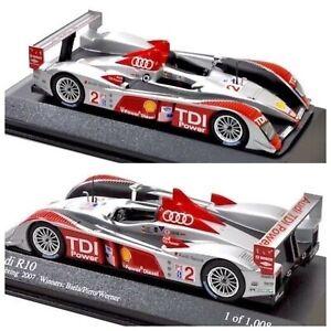 1/43 Minichamps Audi R10 N°2 Biela/Werner Winner 12h Sebring 2007 Livr Domicile