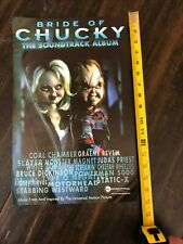 BRIDE OF CHUCKY 1998 PROMO POSTER for OST CD Slayer Iron Maiden Type O Negative