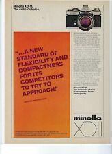 Minolta XD-11 Camera vintage Print Ad - Great condition! (40)