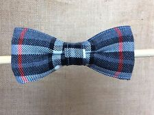 Dog Bow Tie, Tartan Black, Grey and Red - Dog Accessories Dickie Bow