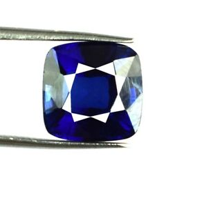 Kashmir Blue Sapphire Loose Gemstone 8.70 Ct Natural Cushion Cut Certified C1513