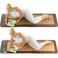HealthyLine Dual side Amethyst Jade Tourmaline Mat InfraRed Heating Energy Pad L