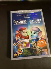 The Rescuers 35th Anniversary Down Under 2-Blu-ray + 2 DVDs In DVD Case