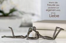 74607 Escultura Loving De hierro · bruñido Altura 6 cm Ancho 30 Profundidad 4