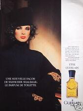 PUBLICITÉ 1987 PARFUM DE TOILETTE SHALIMAR DE GUERLAIN - ADVERTISING