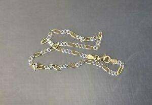 """CrazieM 925 Silver Vintage Southwest Estate Ankle Bracelet 9-10"""" 3.9g x14"""