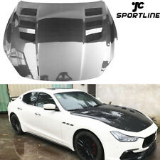 Fit For Maserati Ghibli 2014-2020 Engine Hood Bonnet Cover Lid Carbon Fiber