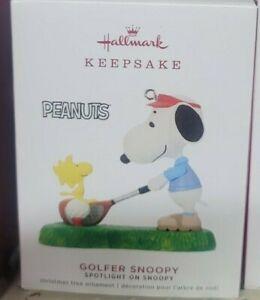 2019 Hallmark Golfer Snoopy Spotlight On Snoopy Ornament
