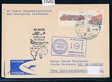 97212) LH So-LP 40 J. SA Service Stuttgart-Rio 3.2.74, markets Denmark Ship Post