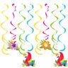 8 Dizzy Danglers Lush Luau Parrot Ladies Summer Party Decoration Supplies Swirls