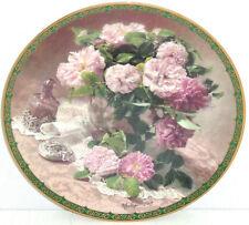 Springtime Elegance Collector Plate Vieonne Morley Romantic Roses Flower Floral