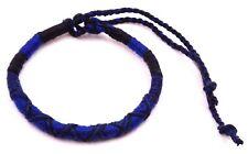 Bracelet Brésilien Amitié Macramé Coton Vœu porte Bonheur bleu noir
