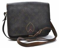 Louis Vuitton Monogram Cartouchiere GM Shoulder Cross Body Bag M51252 LV B7708