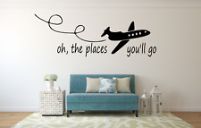 Oh The Places You'll Go Travel Word Quote Wall Decal Art Sticker NQ97
