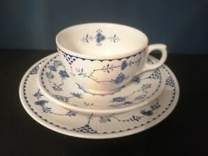 Furnivals Blue Denmark Cups, Saucers & Side plates