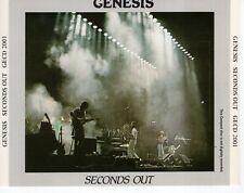 CDGENESISseconds out2CD EX GERMAN 1985 ( NO BARCODE)GECD 2001  (R2898)