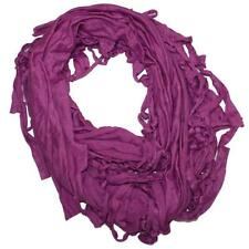 New NWT BCBGeneration Scarf Infinity Loop Knots Festival Hip Mod Gypsy Purple