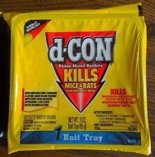 d-Con Ready Mixed Baitbits, 3 OZ Tray, Pellets, Bait, Poison. Kills Mice & Rats!