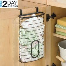 New listing Plastic Grocery Bag Storage Hanger Mount Over Cabinet Door Kitchen Rack Holder