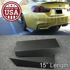 "15"" Rear Bumper Lip Downforce Apron Splitter Diffuser Valence Spats For Toyota"
