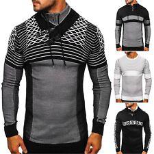 Pullover Rollkragen Pulli Sweater Sweatshirt Strickjacke Herren