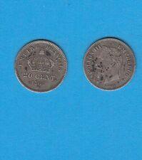 Gertbrolen Second Empire Napoléon III  20 Centimes argent  1867 Strasbourg