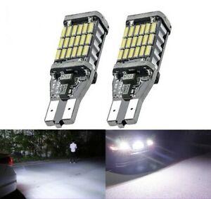 Ampoule LED T15 W16W 45 smd Blanc Feux de recul Veilleuse Frein stop Canbus