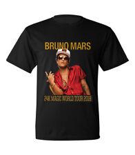 Bruno Mars Mens Rock Band Concert 2018 World Tour Date T Shirt