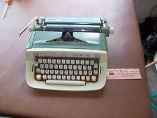 Vintage Royal Sabre Green White Typewriter Portable