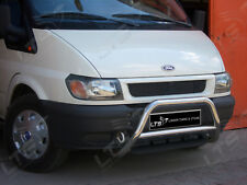 FORD TRANSIT CHROME NUDGE A-BAR STAINLESS STEEL BULL BAR 1995-2013 W K