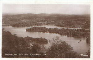 Cumbria Postcard - Bowness and Belle Isle - Windermere - Real Photo - Ref TZ6208