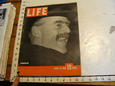 Vintage Life Magazine: APRIL 24, 1939: KATHERINE HEPBURN; CHAMBERLAIN; DINOSAURS