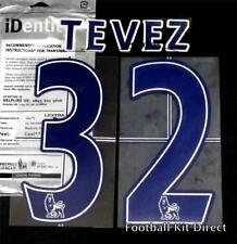 Manchester City Tevez 32 Name/Number Set Football Shirt Lextra 07-13 Home