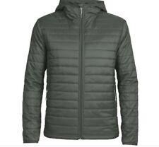 Sz  XXL - Icebreaker Merino Men's Stratus L S Zip Hooded Jacket, Cargo, Rrp $449