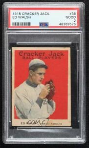 1915 Cracker Jack Ed Walsh #36 PSA 2 HOF