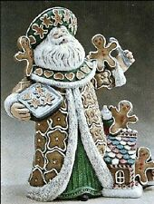 """CERAMIC BISQUE CHRISTMAS """"GINGERBREAD"""" SANTA CLAUS - READY TO PAINT"""