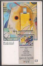 VHS RARE - WASSILY KANDINSKY  FIGURES DE L'INVISIBLE - Alain Jaubert - PALETTES