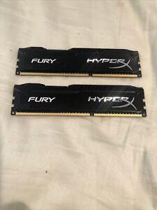 Kingston HyperX FURY 8GB/2 1866MHz DDR3 CL10 DIMM - Black HX318C10FB/4