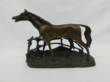 "HORSE BRONZE STATUE SCULPTURE AFTER PJ MENE CORRAL FENCE 6 1/2"" TALL"