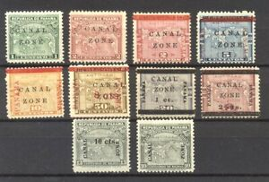 CANAL ZONE #9//37 Mint - Various Map Issues ($120)