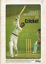 GREAT MOMENTS IN CRICKET - GORDON ROSS - BRADMAN'S 309 NOT OUT