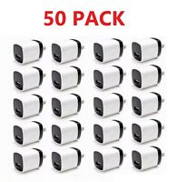 50PACK 1A USB Power Adapter AC Home Wall Charger US Plug FOR iPhone 5 5S 6 7 8 X