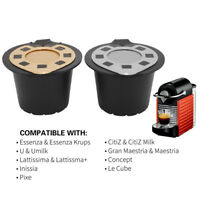 1Pc Refillable Reusable Coffee Capsules Pods Filter Cup For Nespresso Essenza