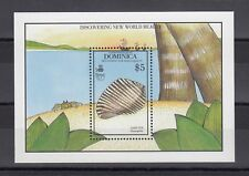 TIMBRE STAMP BLOC ILE DOMINICA Y&T#166 COQUILLAGE SHELL NEUF**/MNH-MINT 1990~B72